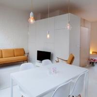 Маленькая квартира с большими претензиями: или как минимализм середины 20-го века нашел приют в старом складе