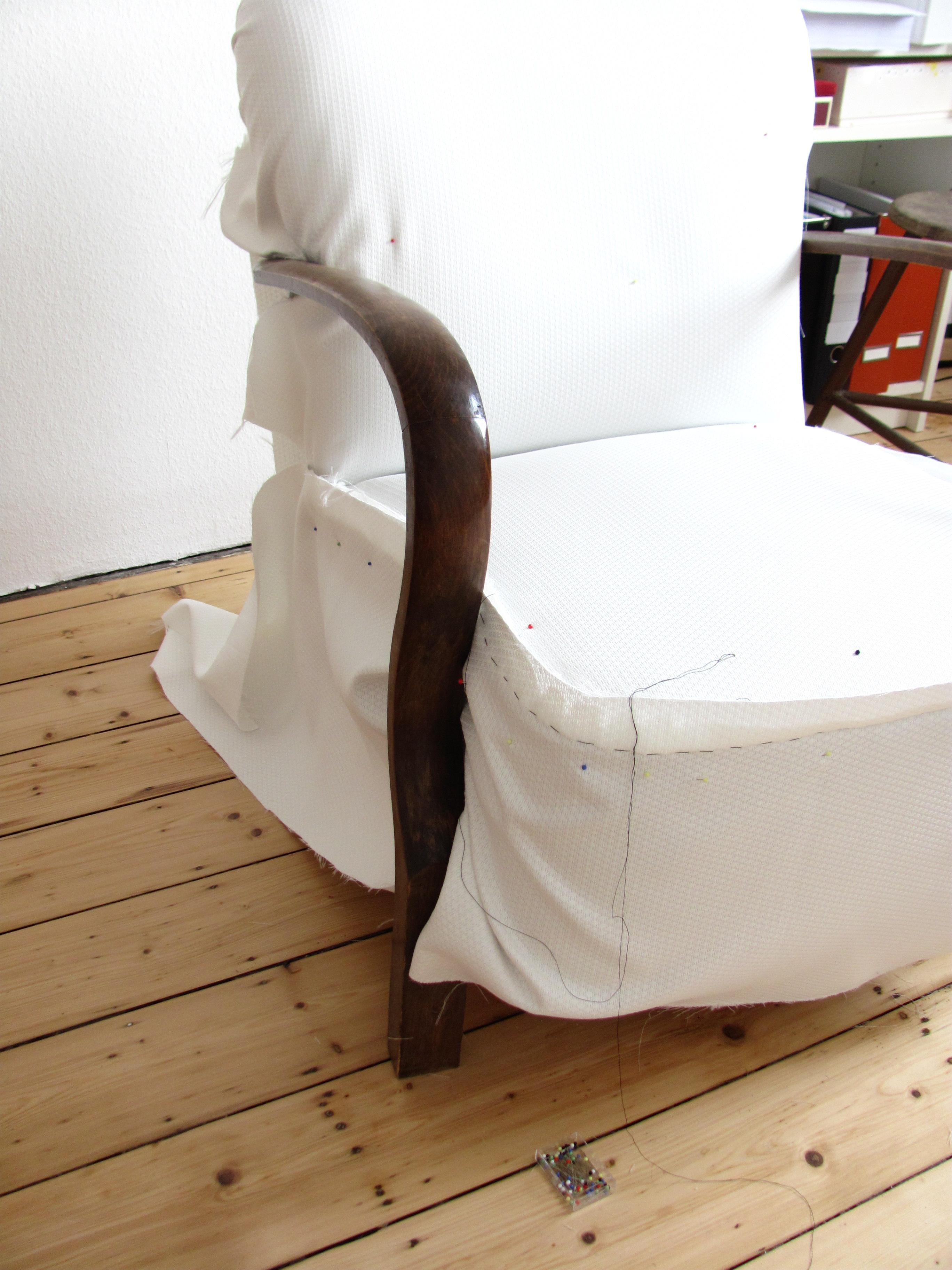 Чехлы на старые кресла своими руками 64