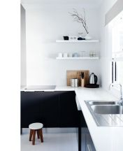 black and white kitchen 2