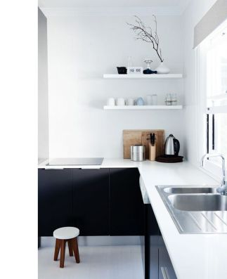 black and white kitchen 2
