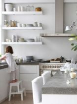 white kitchen and family2