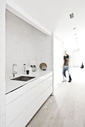 white kitchen for a guy
