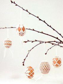 пасхальные яйца - идея вязания крючком