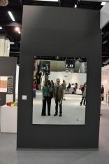 мы с мужем в отражении работы astrid klein. shot mirror. 1993